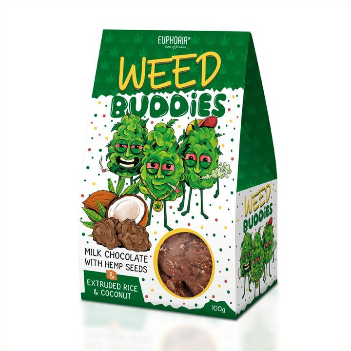 WEED BUDDIES MILK - piena šokolādē, EUPHORIJA